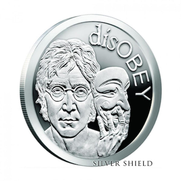 disOBEY Mini Mintage series #5, Lennon by Silver Shield - BU 1 oz .999 Silver Round