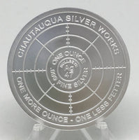 Cryptic Silver Series #6 - Cryptic Forces, BU Finish by Chautauqua Silver Works, 1oz .999 Silver Round