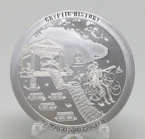 Cryptic Silver Series #4 - Cryptic History, BU Finish by Chautauqua Silver Works, 1oz .999 Silver Round