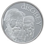 disOBEY Mini Mintage series #3, Solzhenitsyn by Silver Shield - BU 1 oz .999 Silver Round