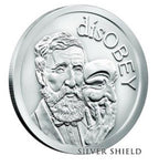 disOBEY Mini Mintage series #1, Thoreau by Silver Shield - BU 1 oz .999 Silver Round