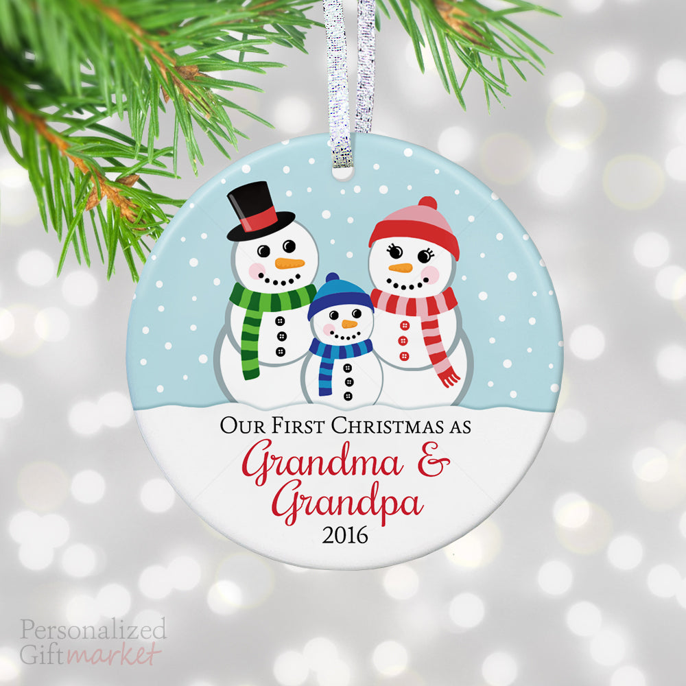 First Christmas as Grandma and Grandpa Ornament – Personalized Gift ...