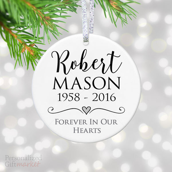 personalized memorial gift sympathy ornament personalized gift market