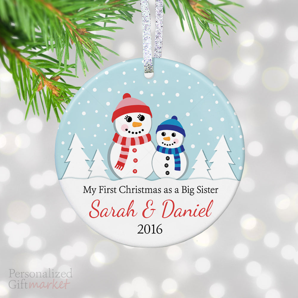 new big sister and brother christmas ornament personalized gift market