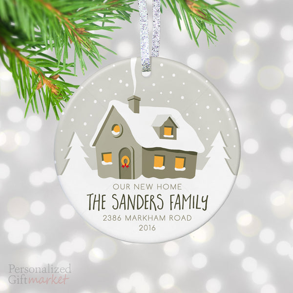 personalized new house ornament for christmas tree our new home