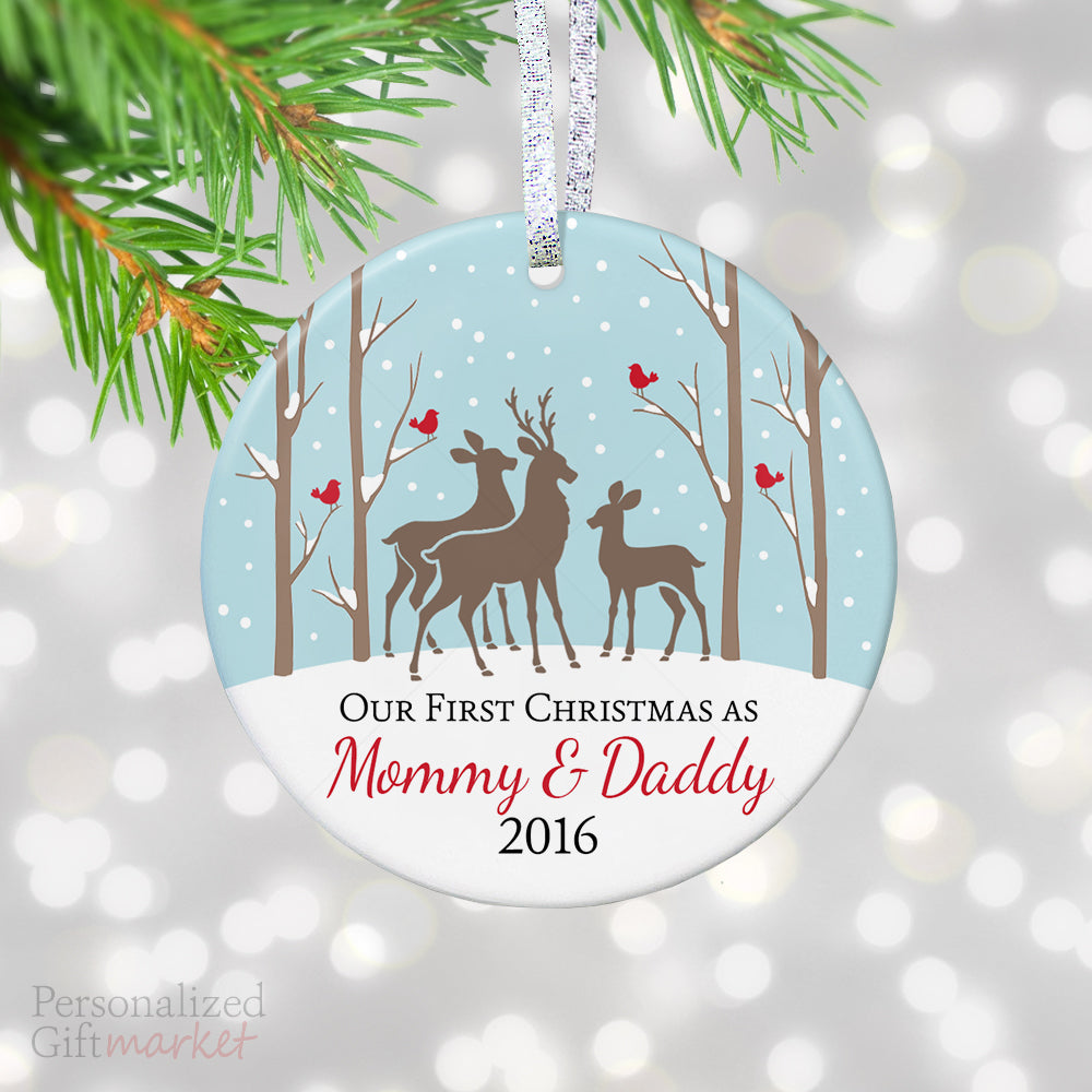 New Mommy and Daddy First Christmas Gift – Personalized Gift Market