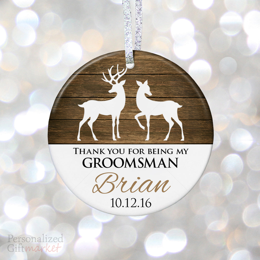 Groomsman Personalized Christmas Ornament – Personalized Gift Market
