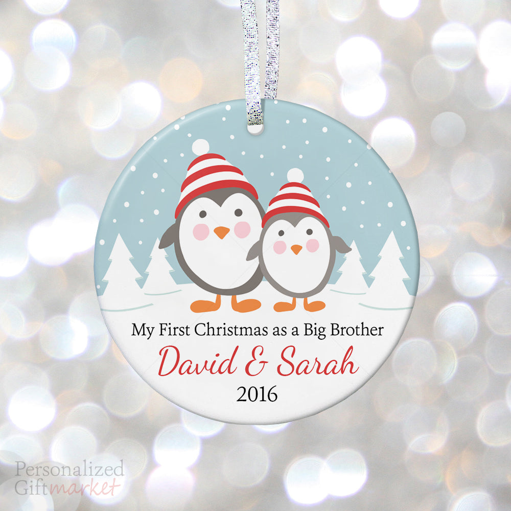 new big brother and sister personalized ornament personalized gift