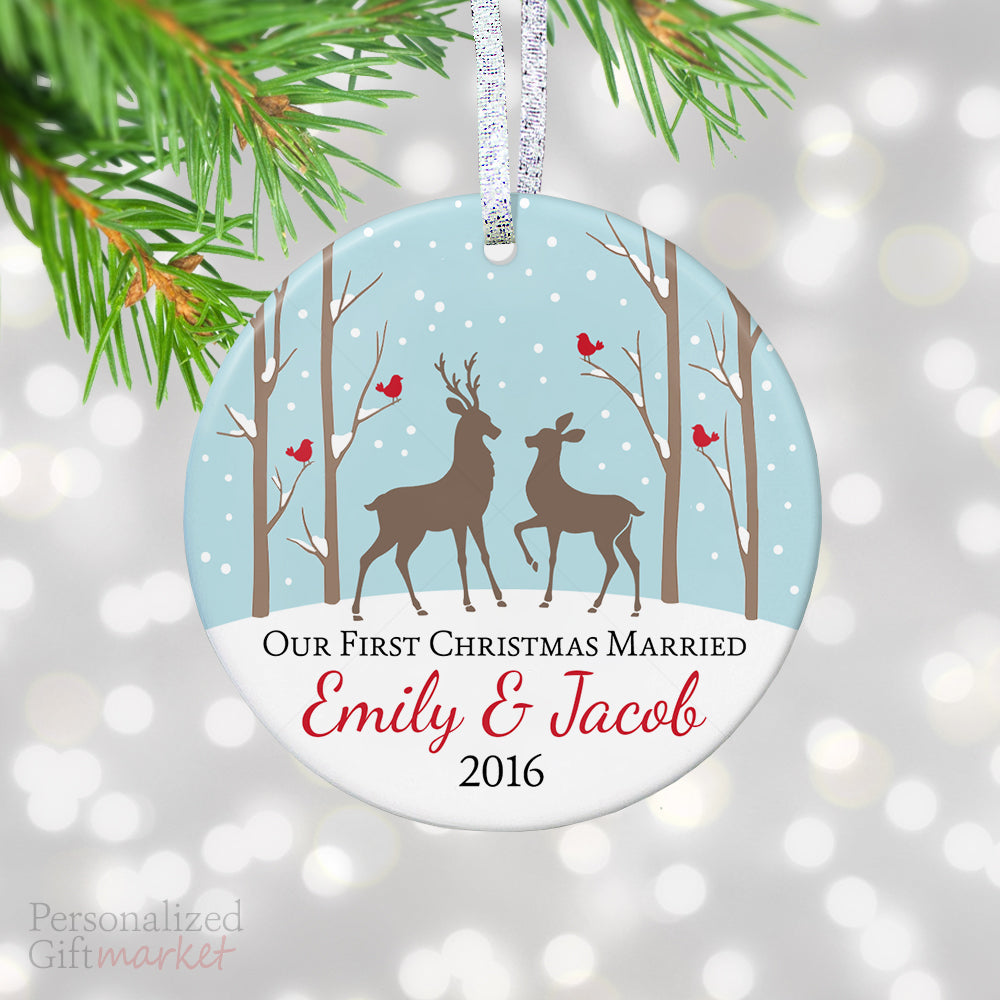 our first married christmas ornament personalized gift market