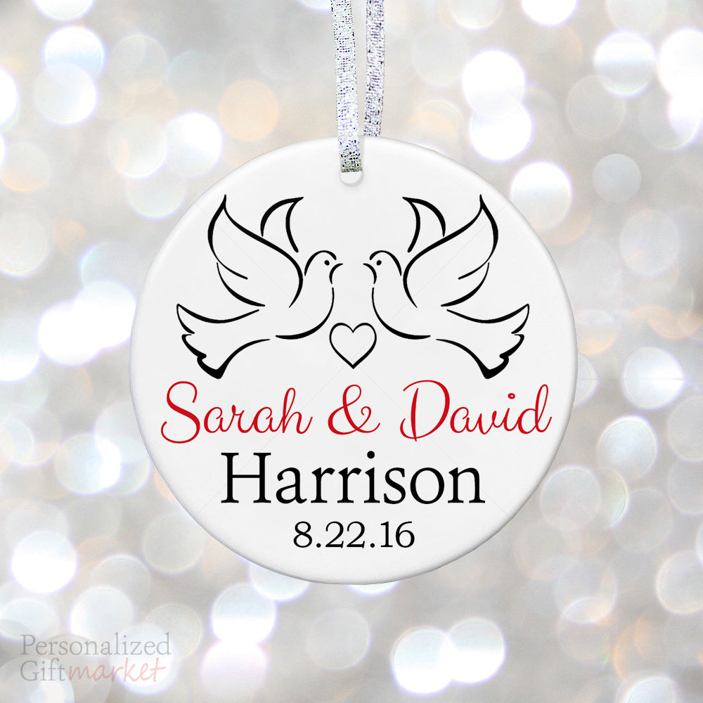 personalized anniversary christmas ornament personalized gift market