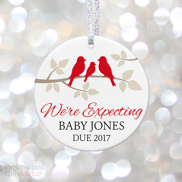 Uncle aunt gifts personalized gift market baby bird personalized expecting ornament negle Choice Image