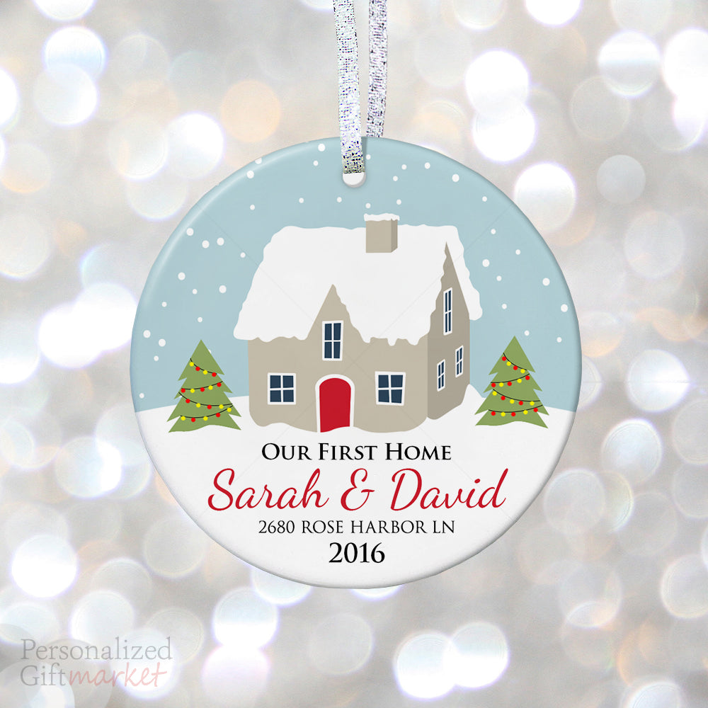 Personalized First Home Ornament Personalized Gift Market