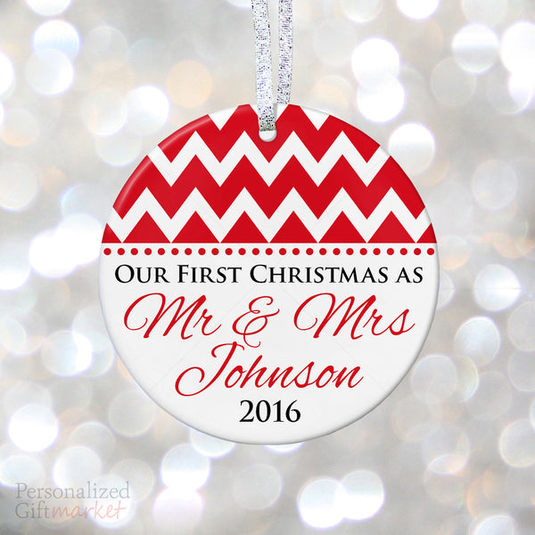 First Christmas Married – Personalized Gift Market