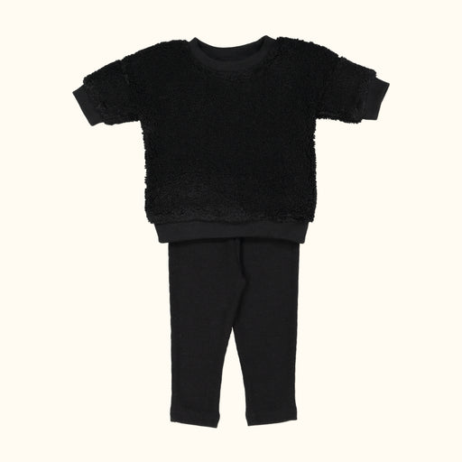 Black Sherpa Baby Set