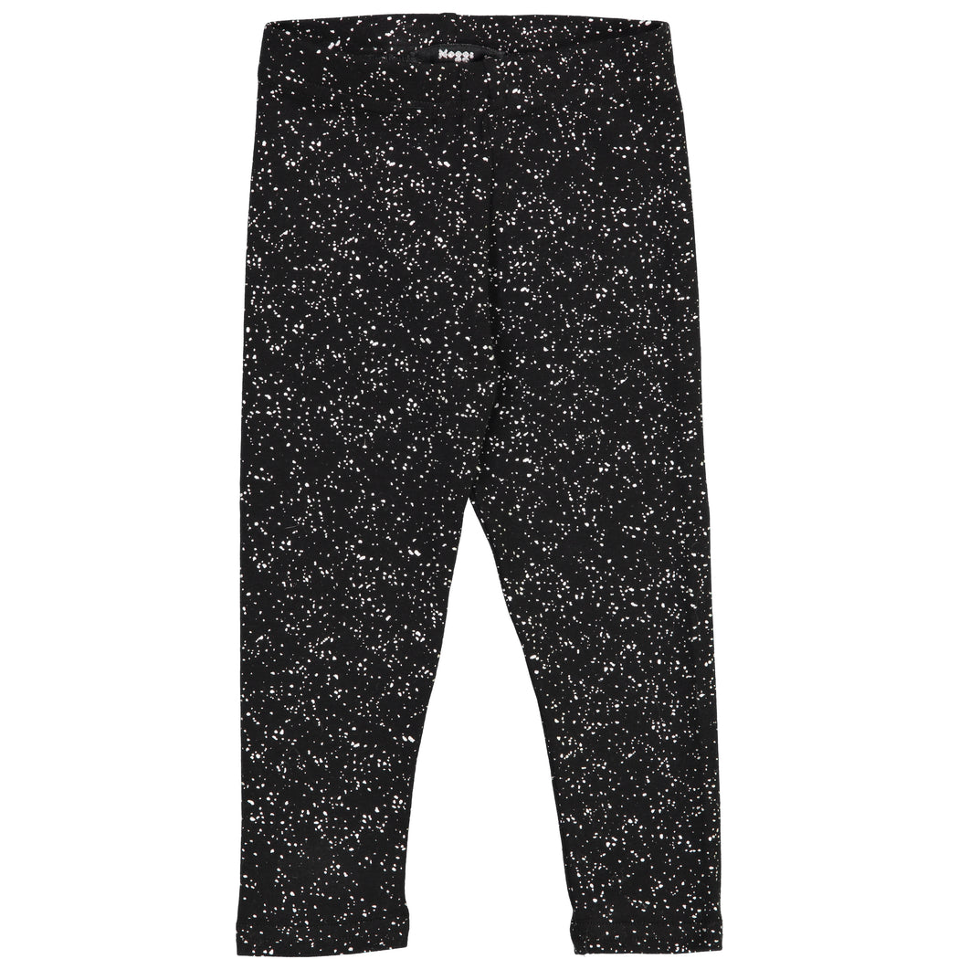 Black Metallic Speckle Leggings