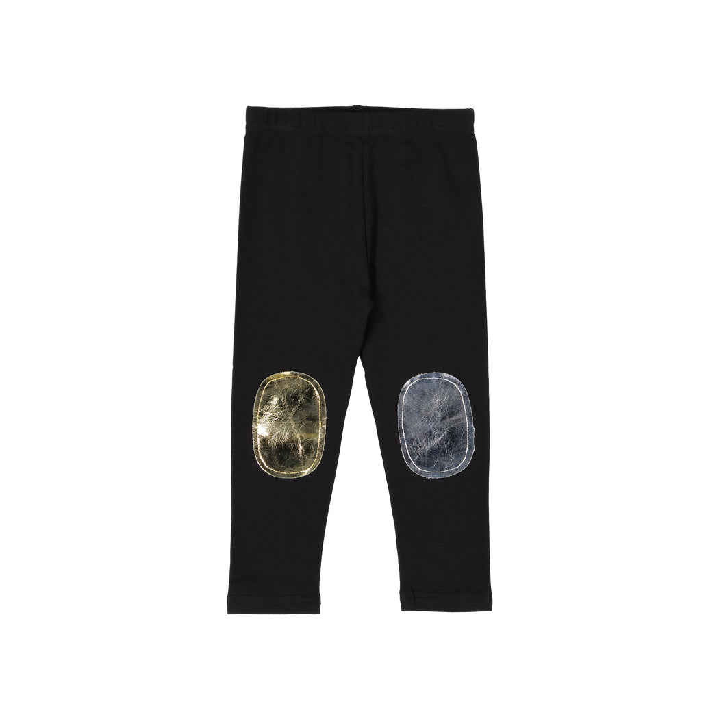 Metallic Duo Patch Leggings