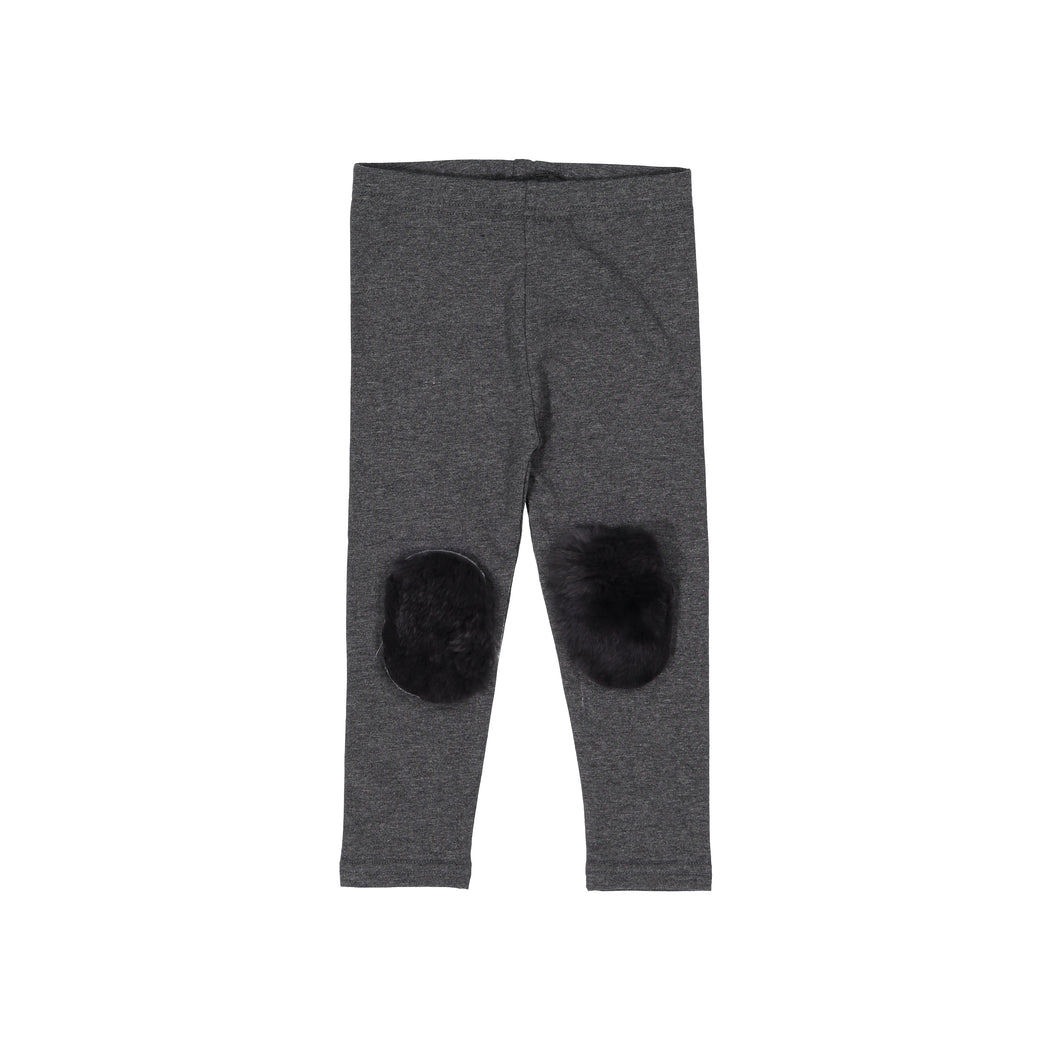 Charcoal Fur Patch Leggings