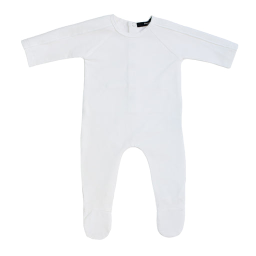 Ivory Velour Trim and Wings Footie