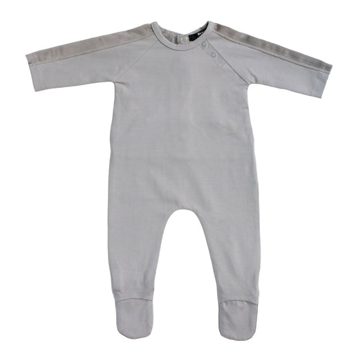 Gray Velour Trim and Wings Footie