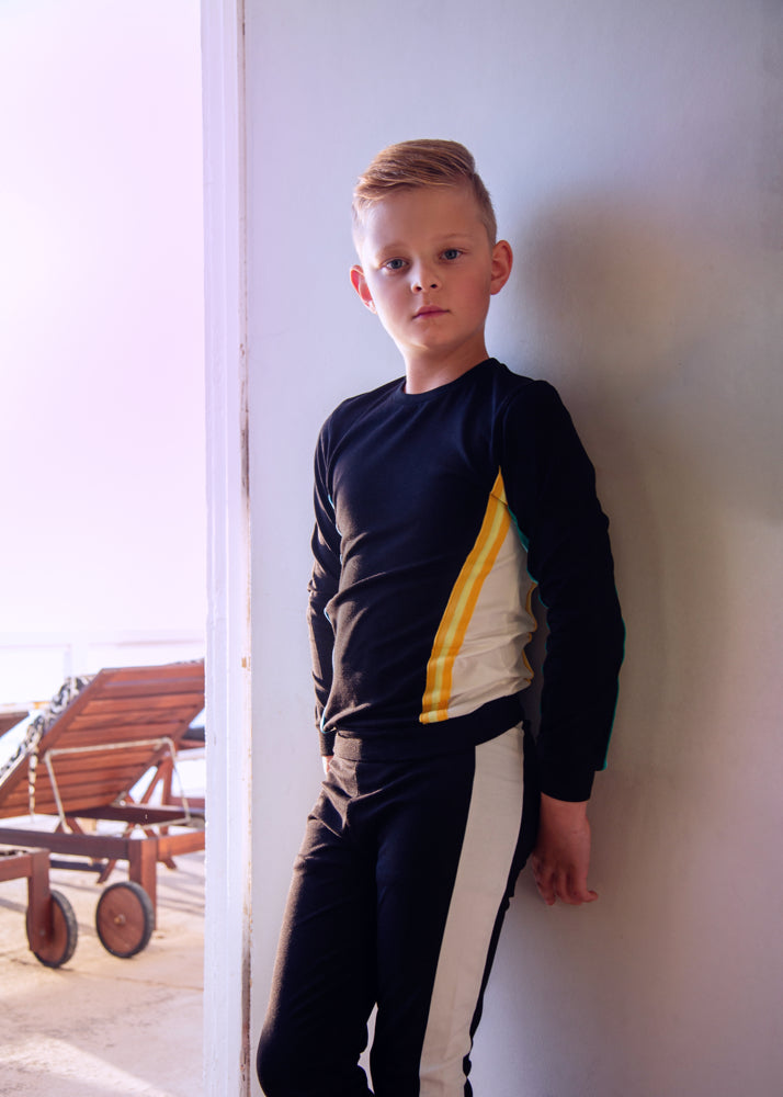 Colorblock Elastic Trim Collection, Boys