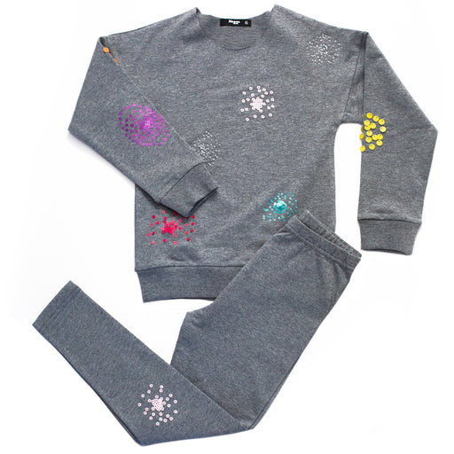 Girls Sequin Patch Loungewear Set