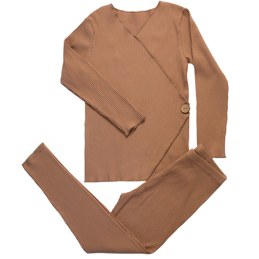 Camel Wrap Loungewear Set