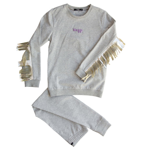 Vee Fringes Loungewear Set, Girls