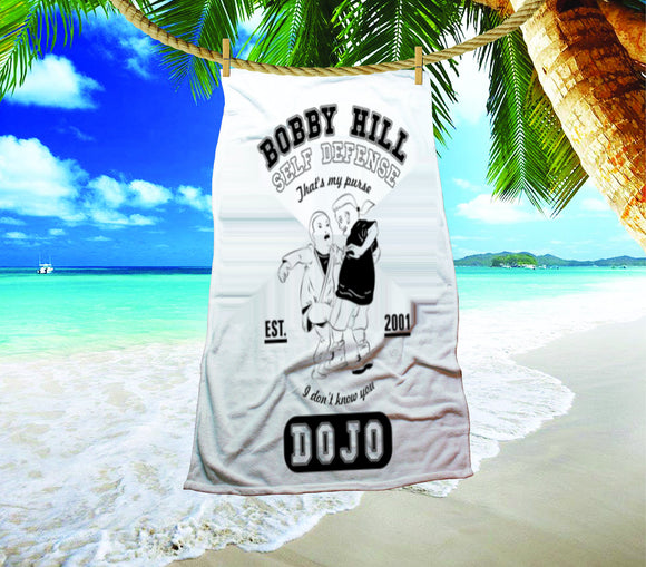 Bobby Hill That's My Purse King Of The Hill Beach Towel - Killed Fitty Men