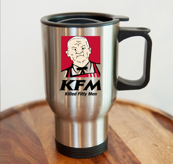 KFM 14 Oz. Stainless Steel Travel Mug - Killed Fitty Men