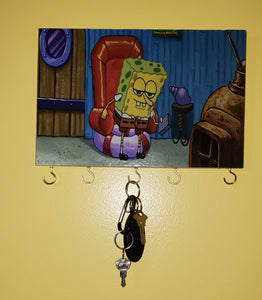 Spongebob Keyboard Key Hook Key Rack - Killed Fitty Men