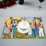 King Of The Hill Family PlaceMats - Killed Fitty Men