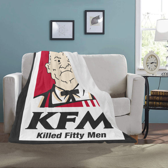 Cotton Hill KFM Ultra Soft Micro Fleece Blanket - Killed Fitty Men