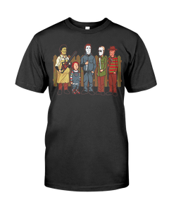 King Of The Hill Horror Villains Halloween Shirt - Killed Fitty Men