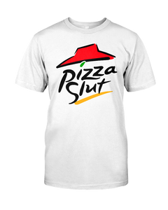 Pizza Slut Cotton T Shirt - Killed Fitty Men