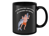 Duke The Dolphin and Hank Hill King Of The Hill Coffee Mug - Killed Fitty Men
