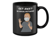 "Bobby Hill ""Social Distancing"" King Of The Hill Coffee Mug - Killed Fitty Men"