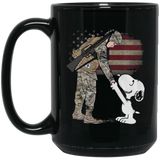 Snoopy thanks a Veteran - Killed Fitty Men