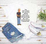 Boomhauer Talks About The Internet King Of The Hill Shirt - Killed Fitty Men