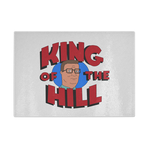 King Of The Hill Glass Cutting Board - Killed Fitty Men