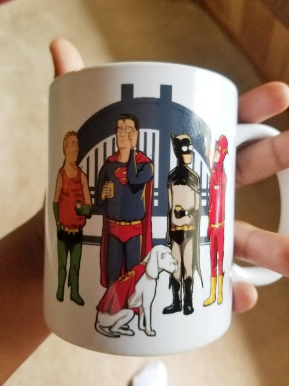 Justice League of King Of The Hill Coffee Mug - Killed Fitty Men