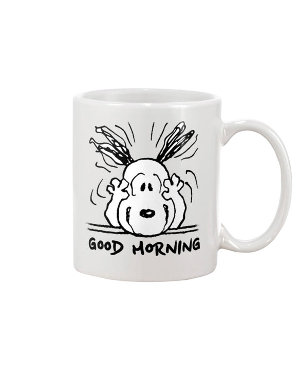Snoopy Good Morning Coffee Mug - Killed Fitty Men