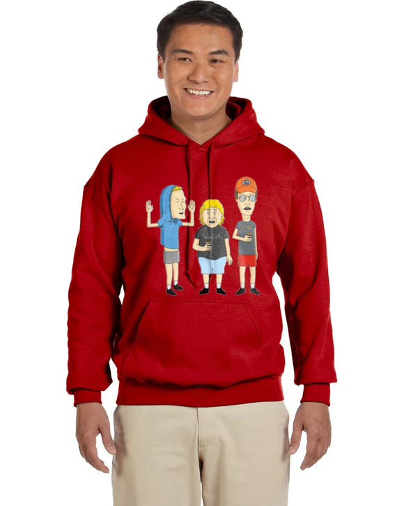 King Of The Hill Meet Beavis And Butthead Hoodie - Killed Fitty Men