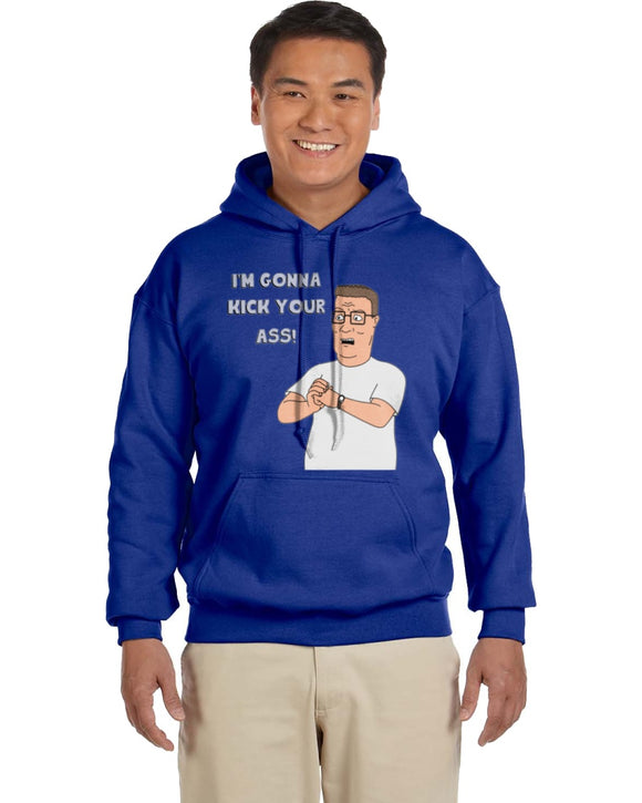 Hank Hill Kick Ass King Of The Hill Hoodie - Killed Fitty Men