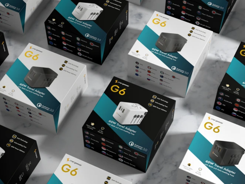 Chargeasap launches G6: The world's first 60W travel adapter with GaN
