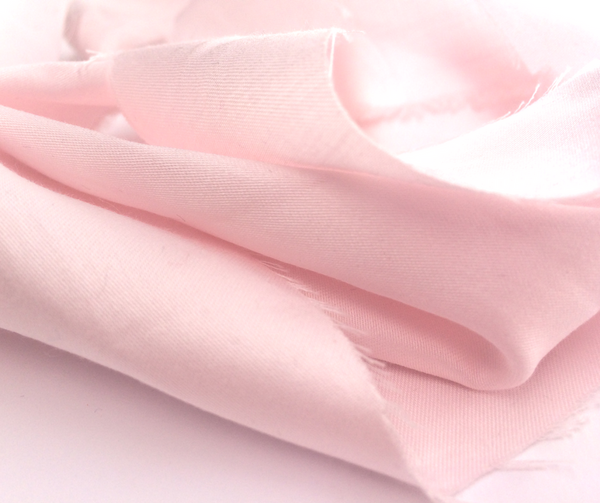 Light pink organic cotton satin fabric