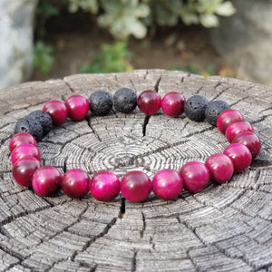 Purple Tiger's Eye Diffuser Bracelet