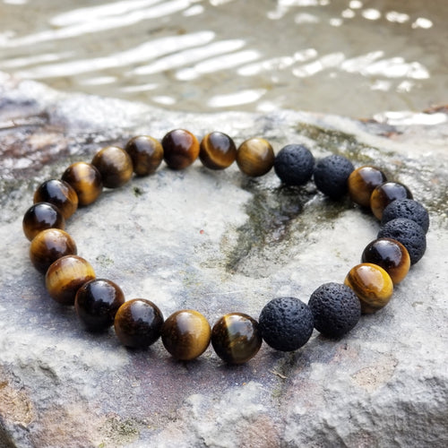 Yellow Tiger's Eye Diffuser bracelet