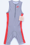 Red and Silver Full Triathlon Suit
