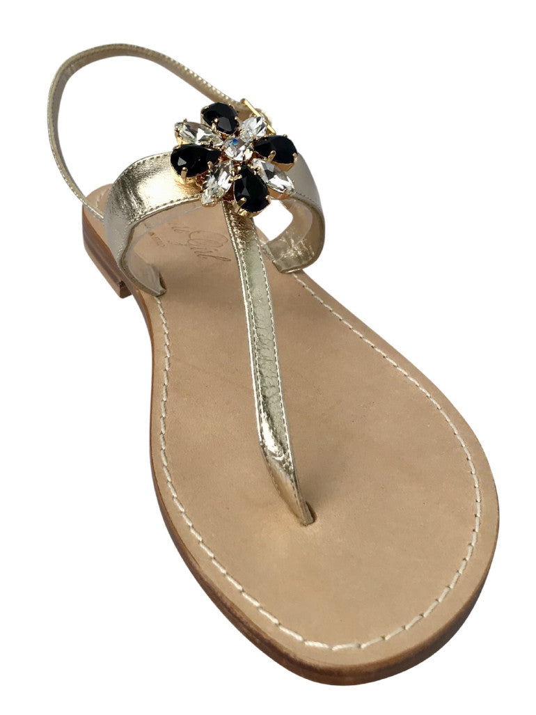 Flora Jeweled Capri Sandal