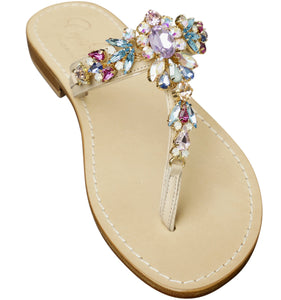 Sophia Multicolor Jeweled Slide